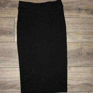 Knee Length Black Professional skirt